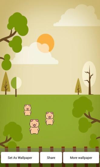 欢乐小猪动态壁纸