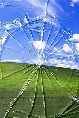 破碎的屏幕动态壁纸