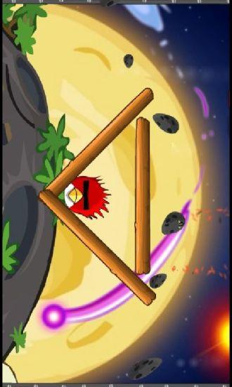 愤怒的小鸟躲避太空石头