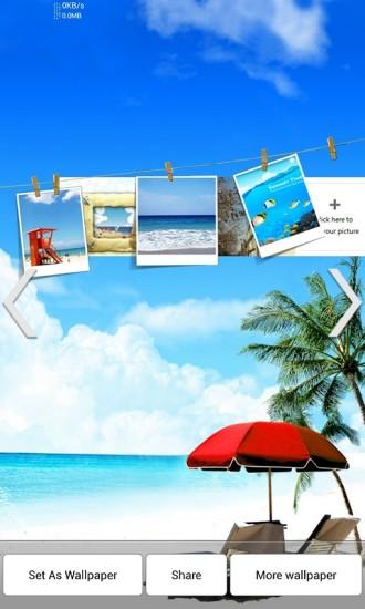 DIY相框系列之阳光沙滩动态壁纸