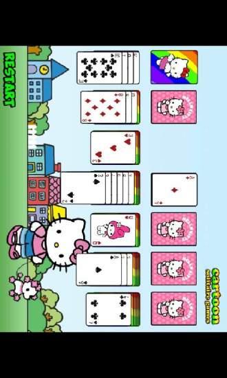 凯蒂猫纸牌接龙