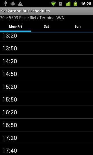 Saskatoon Bus Schedules