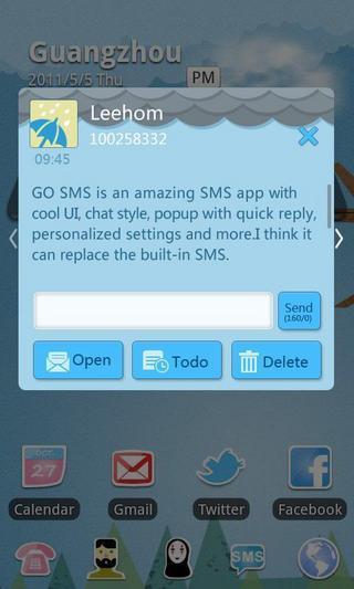 GO短信雨天主题