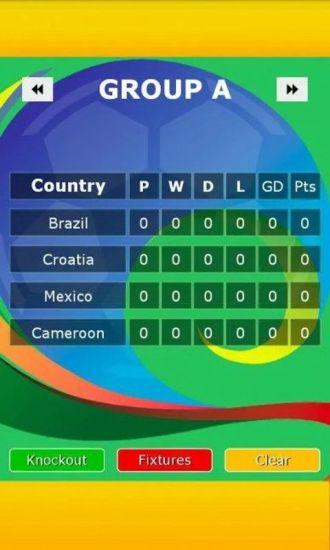 世界杯对阵图2014
