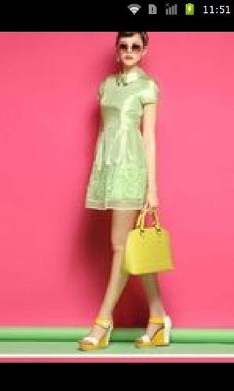 薄荷绿清凉女装