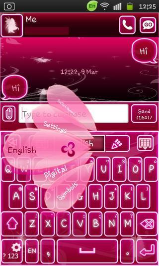 玩工具App|Go Keyboard Fairy Pink免費|APP試玩