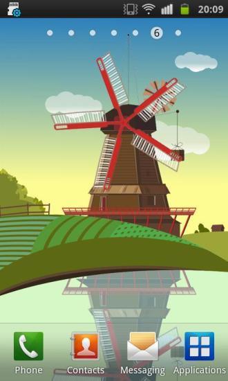 风车和池塘 免费