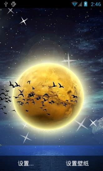 月球的光辉动态壁纸