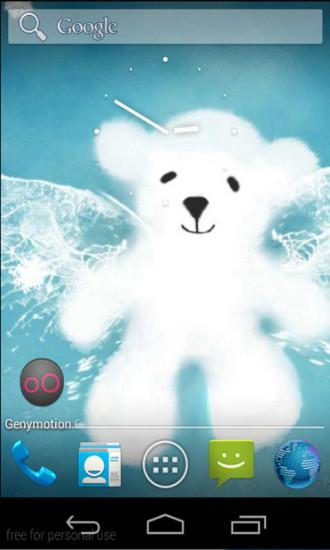 会下雪的小熊玩壁纸