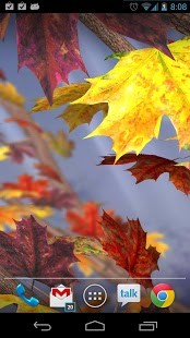 秋叶飘飘动态壁纸