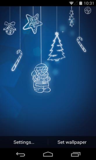 圣诞气氛梦象动态壁纸