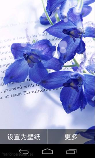 紫罗兰的阅读季动态玩壁纸
