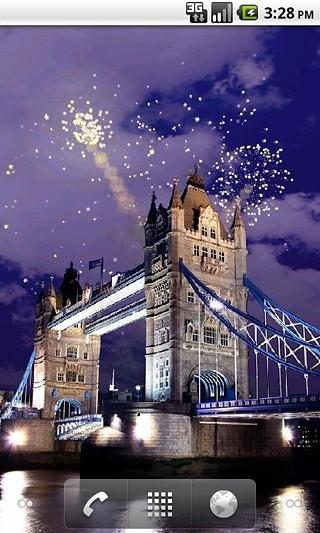 伦敦桥烟火壁纸