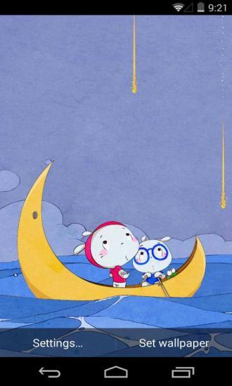 扑克兔之海上流星梦象动态壁纸