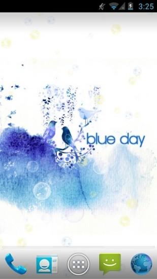 蓝色水墨-动态壁纸