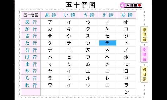 日语五十音图点读版