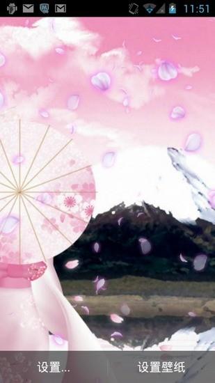 飘零的樱花动态壁纸