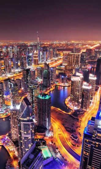 迪拜城市风景手机壁纸