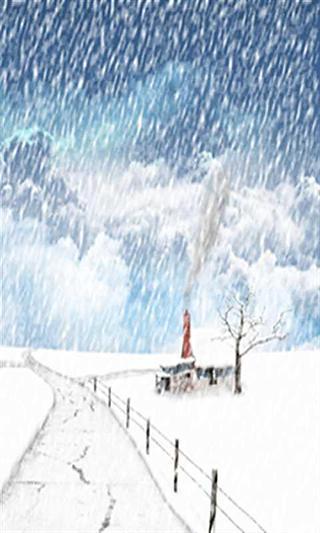 浪漫爱情雪景动态壁纸