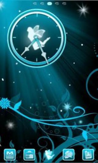 蓝色精灵时钟