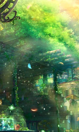 霓光花园动态壁纸