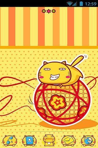 玩工具App GO桌面主题-桌子上的哈密猫免費 APP試玩