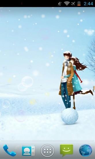 冬季恋人动态壁纸