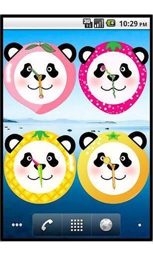 玩免費工具APP|下載水果熊猫时钟插件 app不用錢|硬是要APP