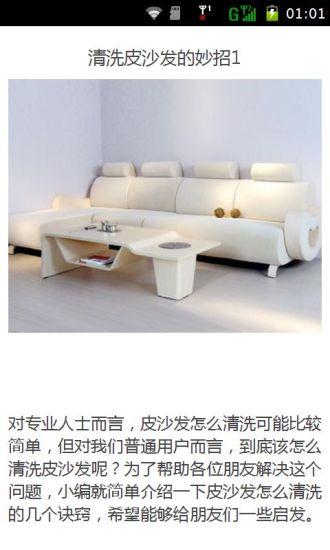 清洗皮沙发的妙招