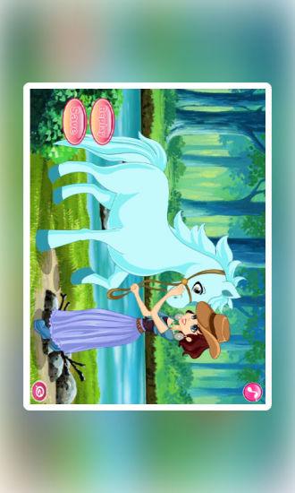 女孩和可爱小马