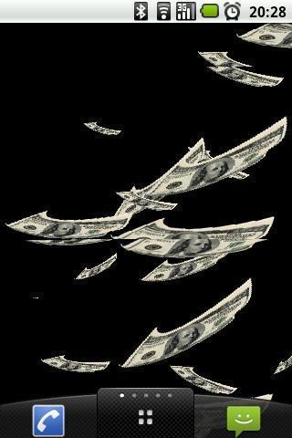 飞翔的钞票动态壁纸