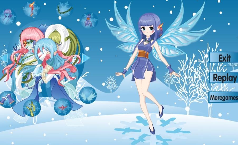 美丽冬日雪仙子