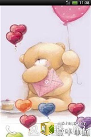 桌布可爱的玩具熊