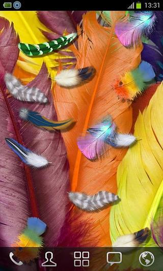 银河羽毛3D动态壁纸