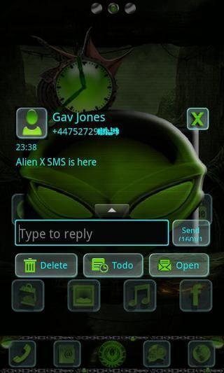 外星X GO短信主题
