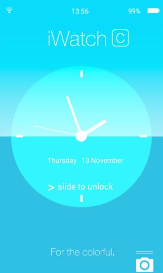 简约时钟创意主题锁屏