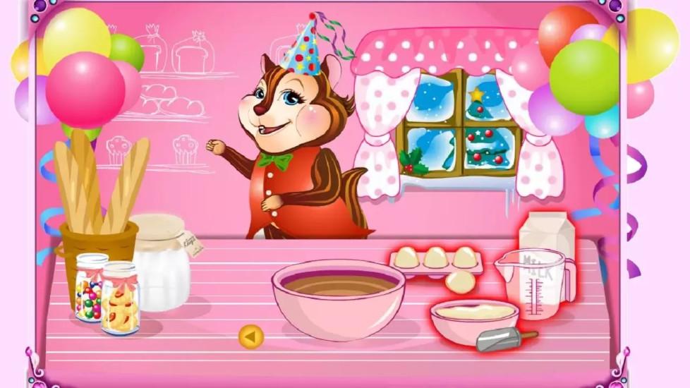 制作和装饰的可爱蛋糕