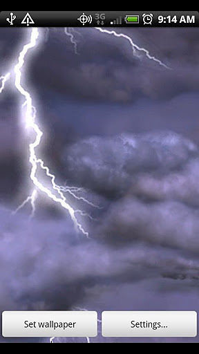 雷电风暴动态壁纸