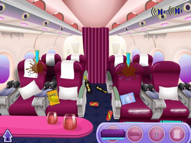 飞机清洗 - 少女游戏