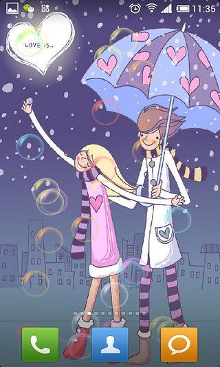 玩工具App|卡通爱情动态壁纸免費|APP試玩