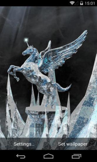 3D冰晶独角兽动态壁纸