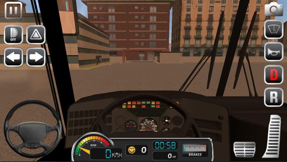 大型巴士驾驶司机3D