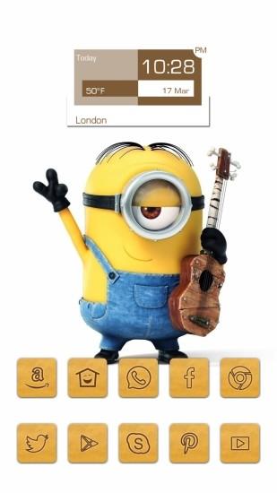 小黄人吉他可爱主题