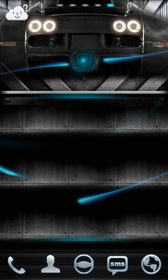 GO桌面主题-智能汽车蓝