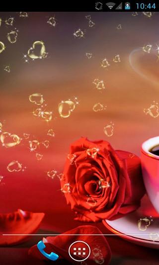 玫瑰恋上咖啡动态壁纸
