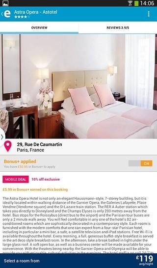 ebookers酒店预订
