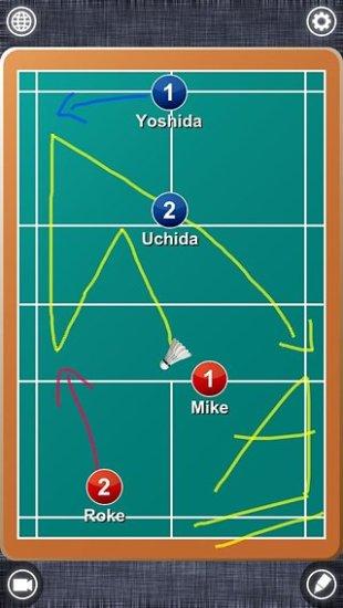 羽毛球战术板