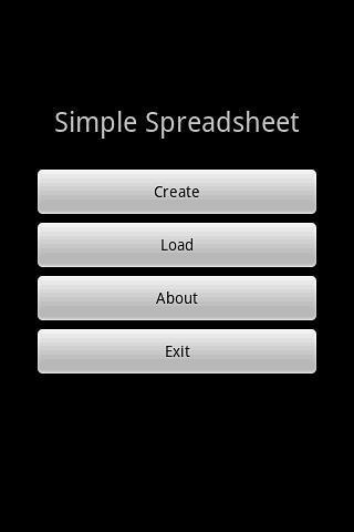简单的电子表格(免费)