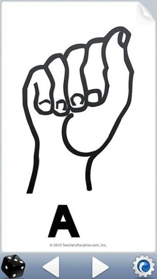 英文字母手语表