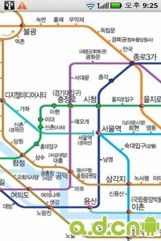 韩国地铁换乘向导